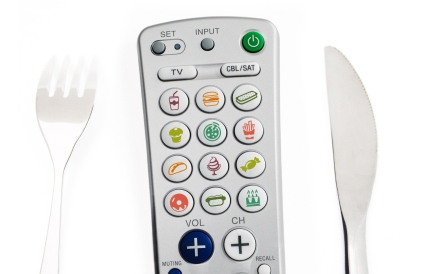 Remote control with food choices